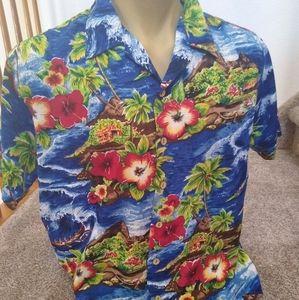 Vintage Kennington Polyester Hawaiian Shirt L